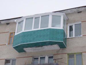 Винос балкона на підлозі / плиті